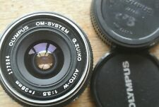 Olympus  Zuiko Auto-W 28mm 1:3.5 Lens  NICE