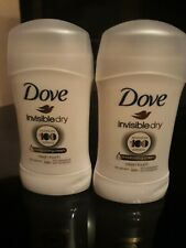 DOVE STICK 40ML INVISIBLE  DRY ANTIPERSPIRANT DEODORANT 48H PROTECTION ×2
