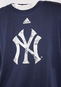 NEW Youth Boys Girls Kids Adidas New York Yankees Baseball MLB NY Logo Shirt