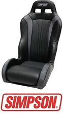 Simpson Vortex Rear Seat - Black / Black for 14-17 Polaris RZR XP 1000 & Turbo