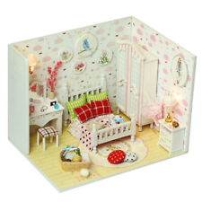 1:24 DIY Wooden Miniature Kit Doll House Kit Birthday Gift (Rural Bedroom)