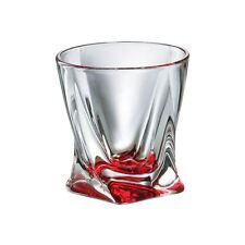 Crystal Set of 6 Rocks Glass Whiskey Cognac Vodka Quadro Tumbler 11oz / 340 ml
