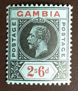 Gambia 1912-22 2s6d Black & Red On Blue SG100 MNH