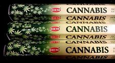 CANNABIS 3 Boxes of 20 = 60 HEM Incense Sticks Bulk Fragrance ~ India