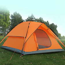 Newly Camping Tent 3-4 Person Automatic Double Layer Travel Cabin Windproof Dome
