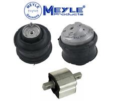 Engine Hydraulic Motor Mount + Transmission Mount Set 3pc Meyle Germany Mercedes