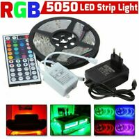 5M RGB 5050 LED Strip Lights SMD +44 Key IR Remote +12V DC AU Power Full Kit