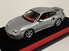 1/43 Minichamps Porsche 911 Turbo (996) in Silver on Leather base.   A1009