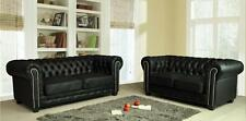 Chesterfield Leather Sofas couches Red Black Brown Sofa Set Suite Settee New