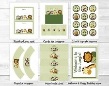 Safari Friends Jungle Animals Printable Birthday Party Package