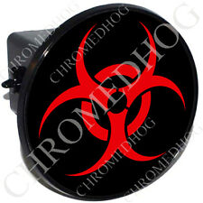 "2"" Tow Hitch Receiver Cover Plug Insert for Most Truck & SUV - Red Hazard Zombie"