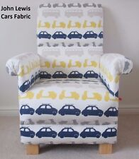John Lewis Cars Fabric Adult Chair Armchair Nursery Bikes Bus Coaches Scooters