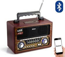 Radio altavoz portatil con Bluetooth USB SD/TF 220W O Pilas estilo retro