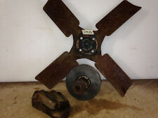 Vintage 4-Blade Fan Assembly w Pulley and Bracket Base 53A-MG4