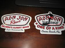 2 Ron Jon Surfboard Stickers; Cocoa Beach & Cape Canaveral Fl;Colorful