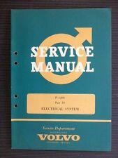 "VOLVO "" P 1200 "" 1962 Original Factory SERVICE MANUAL Electrical System"