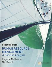 Human Resource Management: A Concise Analysis, Eugene McKenna (2nd edition) 2008