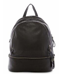 Liebeskind Backpack Lotta Black Cowhide Leather Adjustable Straps Mid Size NWT