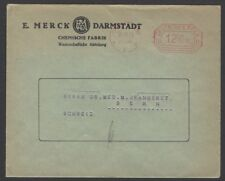 Germany Inflation Oct 1923 1200000 meter frank cover to Switzerland merck advert