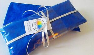 Set of 2 Aromatherapy yoga eye pillow with lavender - Deep Ocean