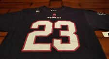 NWT~NFL~TEAM APPAREL~HOUSTON TEXANS~NAVY~#23 FOSTER~T SHIRT~ MENS SIZE LARGE