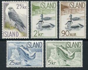 Iceland:1959 Iceland Wildlife (319-323) MNH