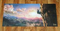 The Legend of Zelda Breath of the Wild Rare Promo Poster Nintendo Switch Wii U..