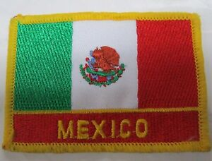 Mexico Country Flag Embroidered Patch 10 PC 3 x 2.25 inch  National  Emblem