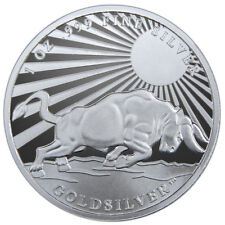 Silver Bull -Greek Hero Atlas 1 oz .999 Fine Silver Round USA Coins,Proof-Like.