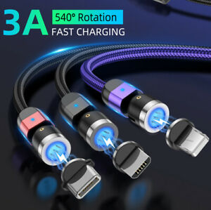 3A Magnetic Fast Charging Cable Type C Micro USB Data Cable For Samsung Huawei