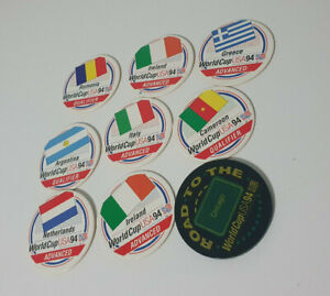 Vintage Pog / Milk Cap * World Cup Soccer 94 Slammer and Discs