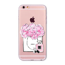 Girly Shopping Paris Flowers Peonies Perfume Fashion iPhone 6/6S PLUS case/cover