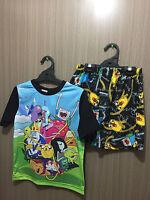 BNIP Boys Sz 6//7 Licenced Yu-Gi-Oh Print Short Stretch Summer PJ Pyjamas Set