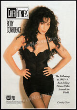 CHER FITNESS: Body Confidence__Vintage 1992 Trade Print AD / orig. video advert