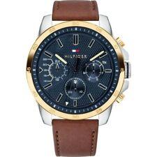 Tommy Hilfiger 1791561 Decker correa marrón de cuero Reloj para Hombres Diseñador