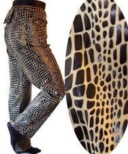 ANIMAL print pant Leopard alligator faux leather black white snake jean 31 punk