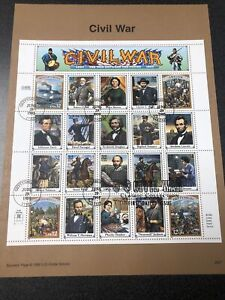 US 2975 Civil War Souvenir Sheet Of 20 First Day Of Issue 1995