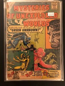 Mysteries of Unexplored Worlds #19 Low Grade 1.5 Charlton Comic Book 31-66