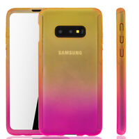 Samsung Galaxy S10e Case Phone Cover Protective Case Heavy Duty Foil Yellow/Pink