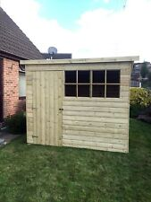 10x4 GARDEN SHED TANALISED T&G WOODEN STORE PENT GEORGIAN STYLE HUT