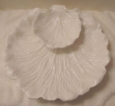 Large Studio Art Pottery Shell Shaped Chip N' Dip Serving Tray WP Mark WD, USA
