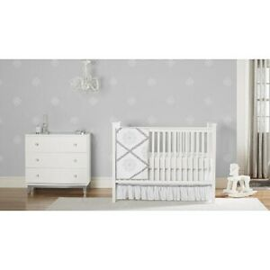 Just Born Ruffled Medallions Collection 4Pc Crib Bedding Set Includes Mobile New