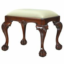 NLR006, Niagara Furniture, Mahogany Bench, Small Chippendale Style Bench