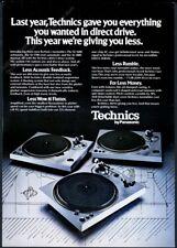 1977 Technics SL1600 SL-1700 SL-1800 turntable photo vintage print ad