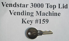 Vendstar 3000 Candy Vending Machine Top Lid Key 159 A Copy With Stamped Number