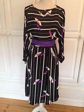 Gina Bacconi Damen Bedrucktes Kleid UK 10 abgenutzt einmal