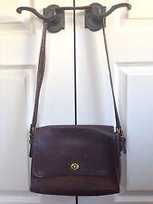 Vintage COACH NYC Dark Brown Leather Shoulder Bag Purse Handbag 667-5743