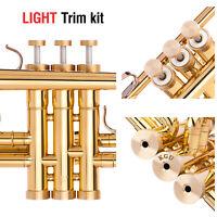 Jupiter Trumpet Trim Kit Light Caps. KGUBrass. Raw Brass. TKLR105