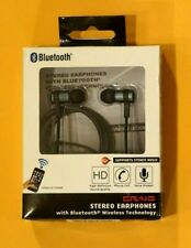 Craig Stereo Earphones - Black - w/bluetooth technology - New #1121