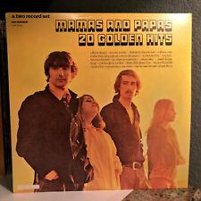 "THE MAMAS & THE PAPAS - 20 Golden Hits - 12"" Vinyl Record LP - EX"